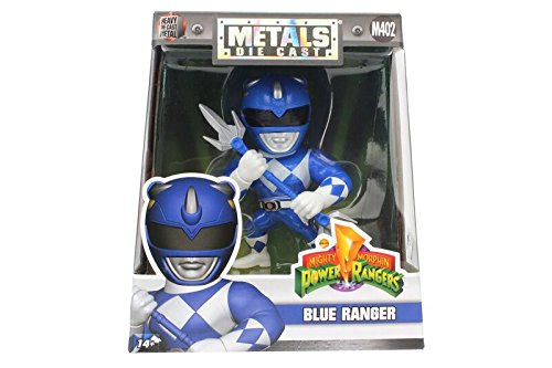 "Jada Toys Metals Power Rangers 4"" Classic Figure - Blue Ranger (M402) Toy Figure"