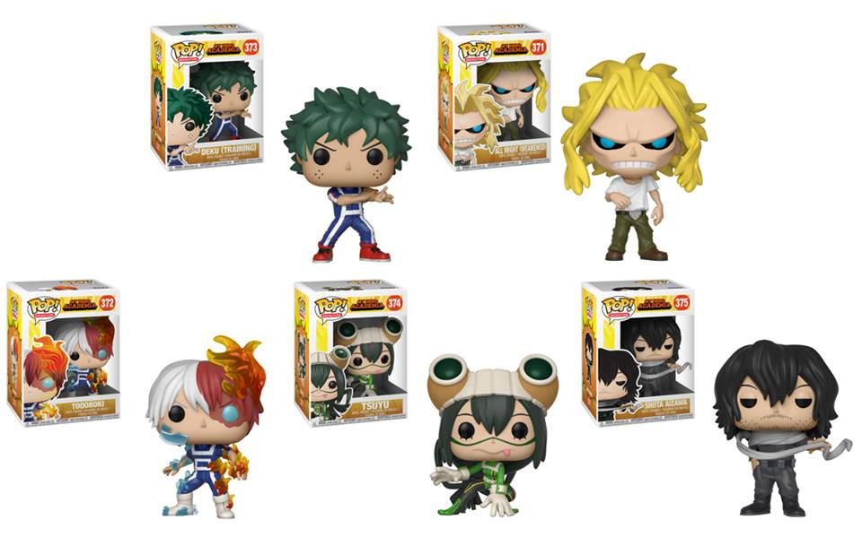 Preorder September 2018 My Hero Academia Pop! Vinyl Figures Set of 5