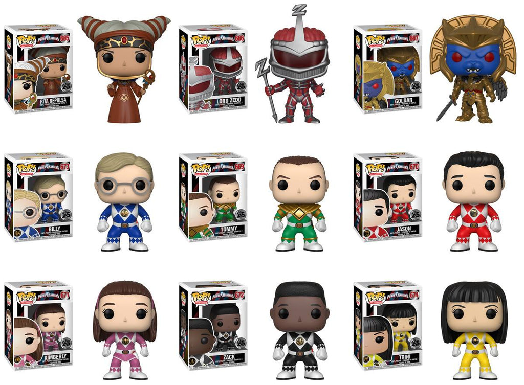 Power Rangers Pop! Vinyl Figures Set of 9