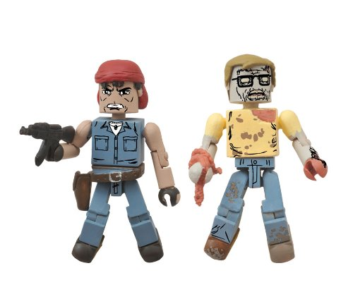 The Walking Dead Minimates Caesar Martinez and Geek Zombie Figure 2-Pack