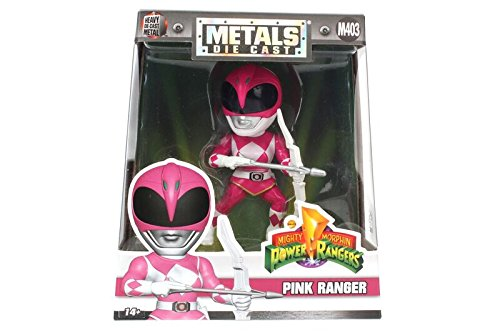 "Jada Toys Metals Power Rangers 4"" Classic Figure - Pink Ranger (M403) Toy Figure"