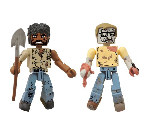 Walking Dead Minimates Survivor Morgan and Geek Zombie Figure 2-Pack Figures