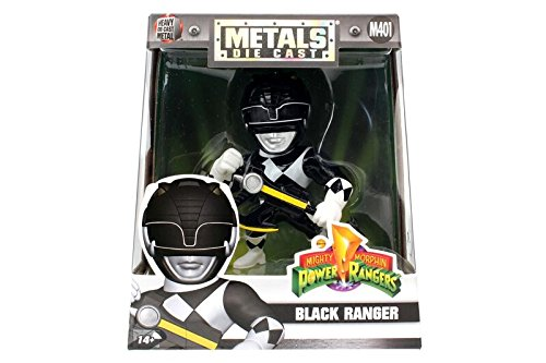 "Jada Toys Metals Power Rangers 4"" Classic Figure - Black Ranger (M401) Toy Figure"