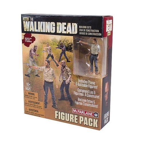 The Walking Dead TV Figure Building Sets Pack 1