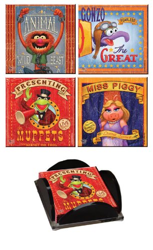The Muppets StarFire Prints Glass Coaster Collection