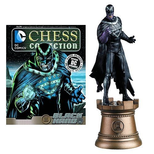 DC Superhero Black Hand Black Bishop Chess Piece with Collector Magazine