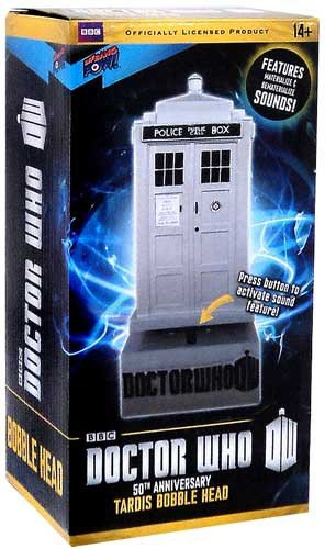 Doctor Who 50th Anniversary TARDIS Bobble Head w/Sound