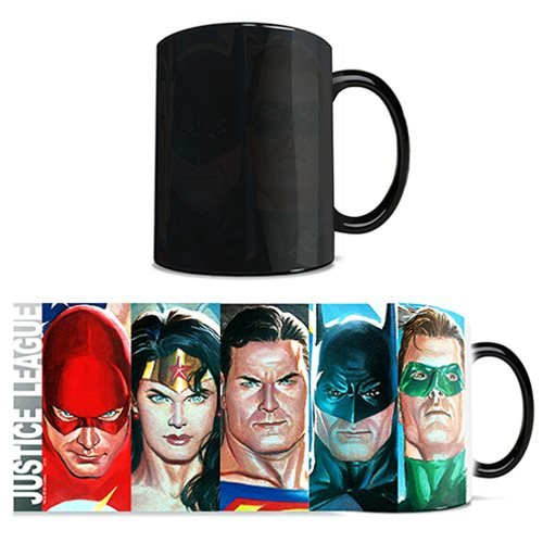 DC Comics Justice League Alex Ross Edition Morphing Mug