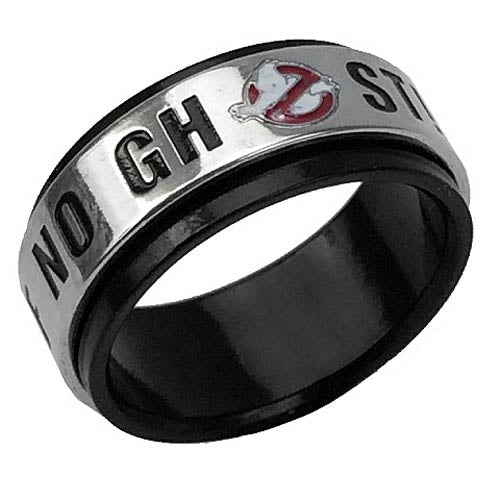 Ghostbusters No Ghosts Spinner Ring Medium Size 10