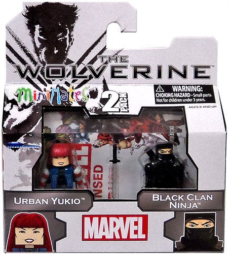 Marvel Minimates The Wolverine Urban Yukio & Black Clan Ninja