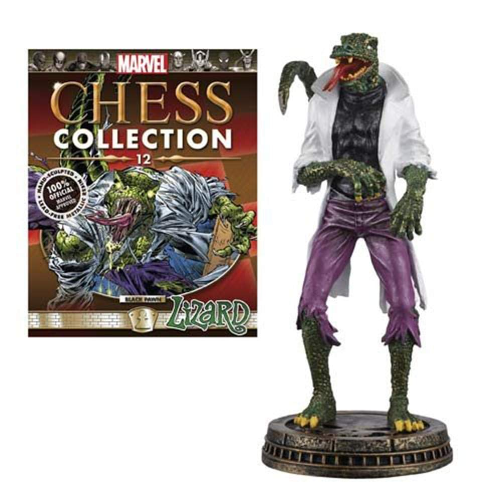 Marvel Chess Figure & Magazine #12 Lizard Black Pawn