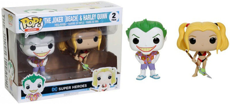 DC Super Heroes The Joker (Beach) & Harley Quinn Hot Topic Exclusive POP! Vinyl Figure