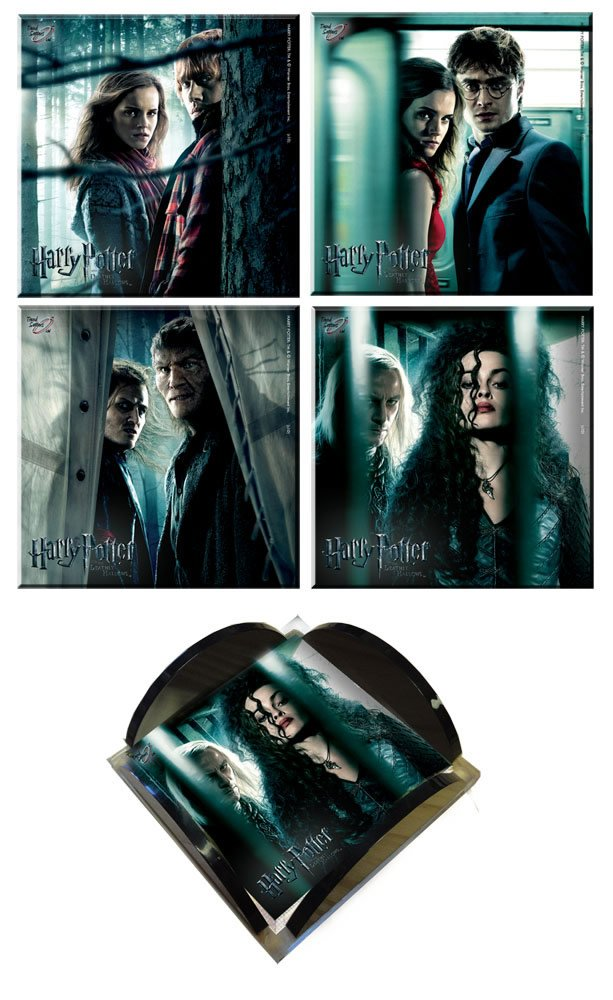 Harry Potter and the Deathly Hallows StarFire Prints Glass Coaster Collection