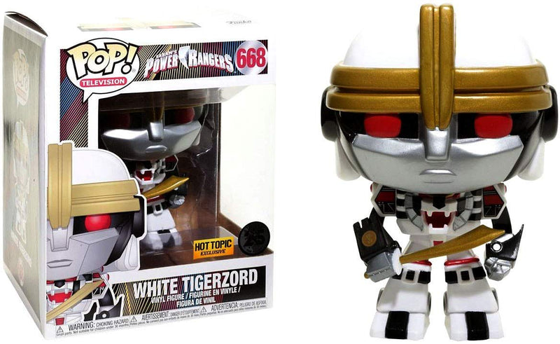 Power Rangers White Tigerzord Hot Top Exclusive POP! Vinyl Figure #668