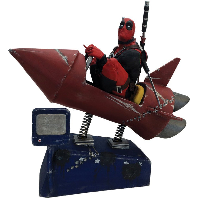 Marvel Comics Deadpool Rocket Ride Premium Motion Statue