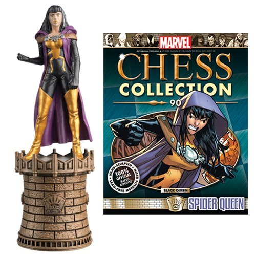 Amazing Spider-Man Spider-Queen Black Queen Chess Piece with Magazine #90