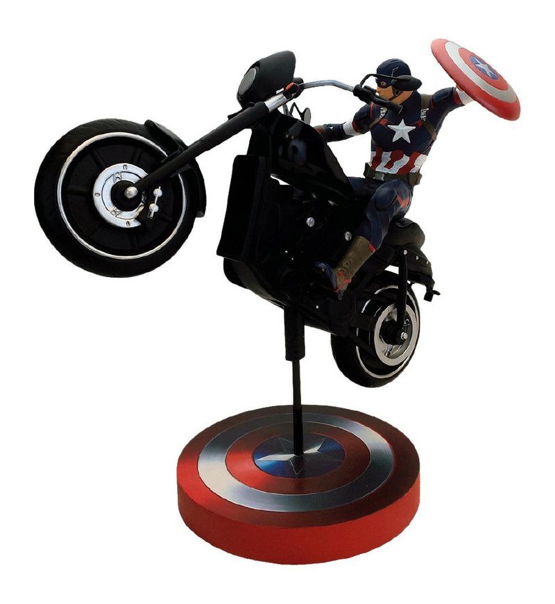 Marvel Comics Captain America Premium Motion Statue