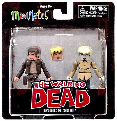 The Walking Dead Comic Book Minimates Hunter Chris & Zombie Holly Figures