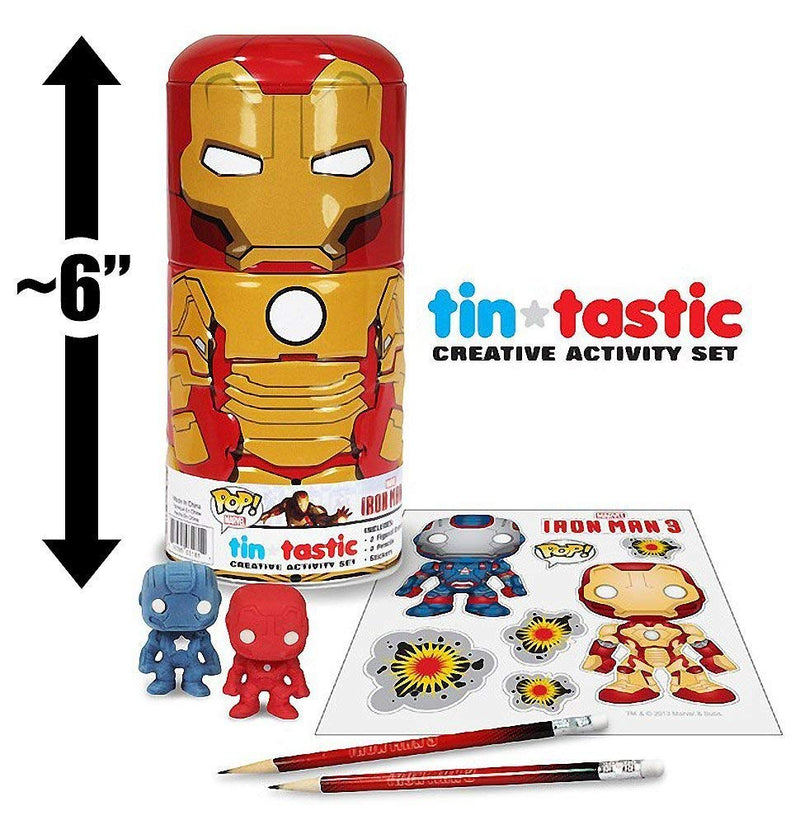 Iron Man 3 Movie Mark 42 Can-Tivities Pencil Set with Tin