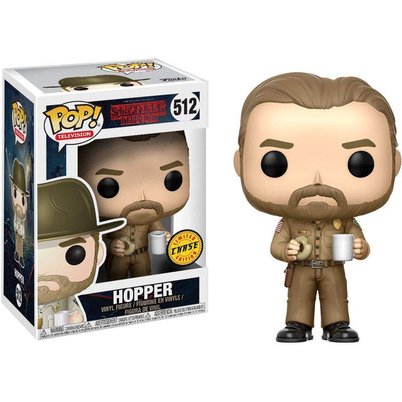 Stranger Things Hopper with Donut Chase Pop! Vinyl Figure #512
