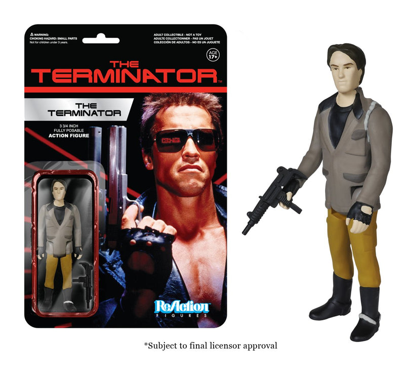 Terminator One Tech Noir with Uzi ReAction 3 3/4-Inch Retro Action Figure