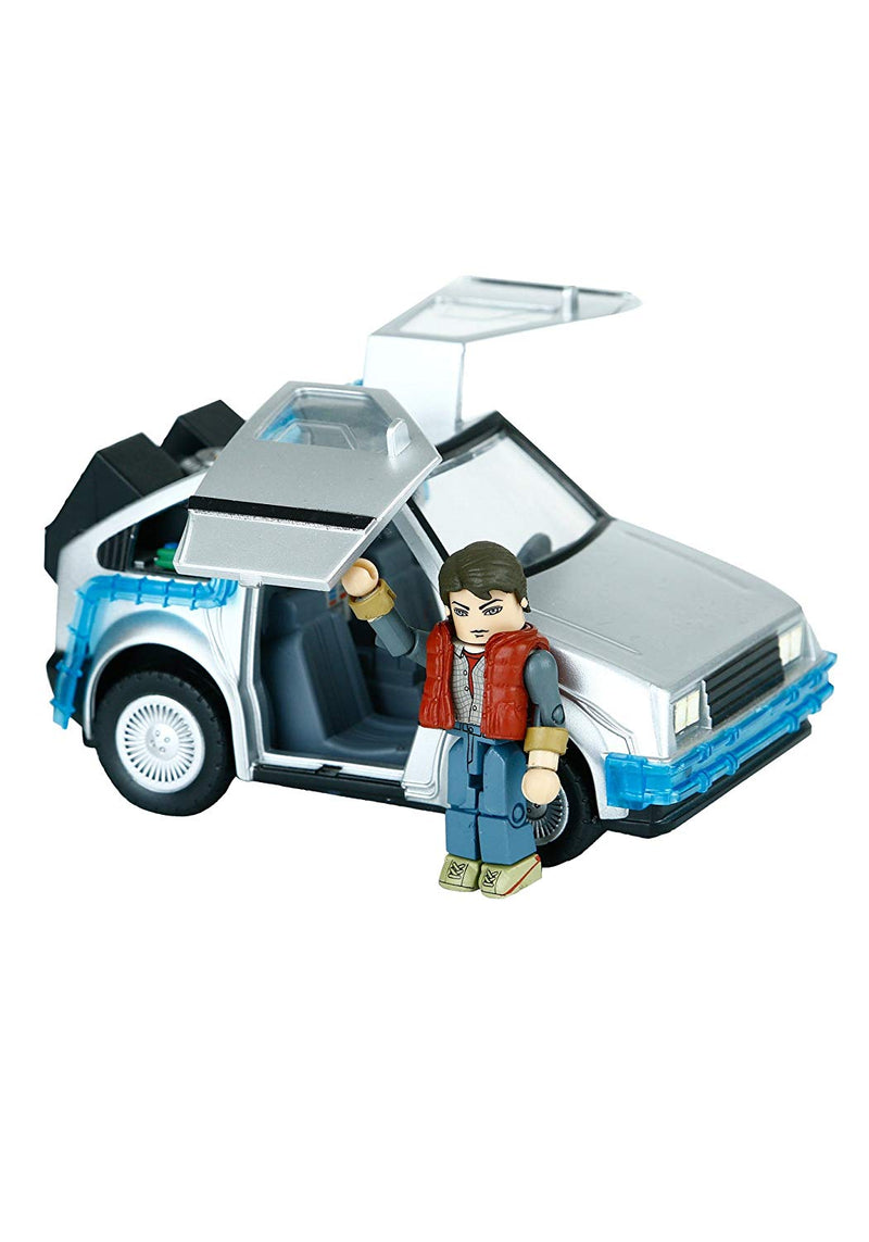 Back to the Future 2 Minimates Vehicle Time Machine with Marty McFly