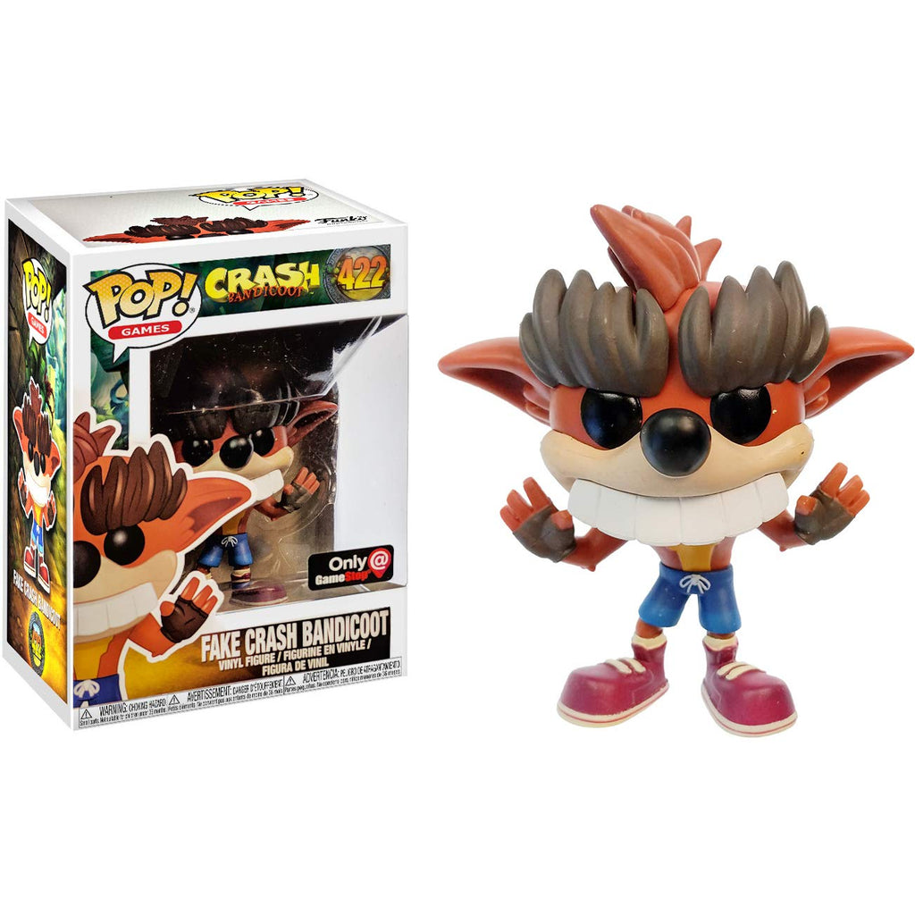 Crash Bandicoot Fake Crash Bandicoot GameStop Exclusive POP! Vinyl Figure #422
