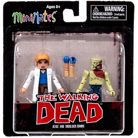 Walking Dead Minimates Series 4 Alice and Shoulder Zombie Action Figures