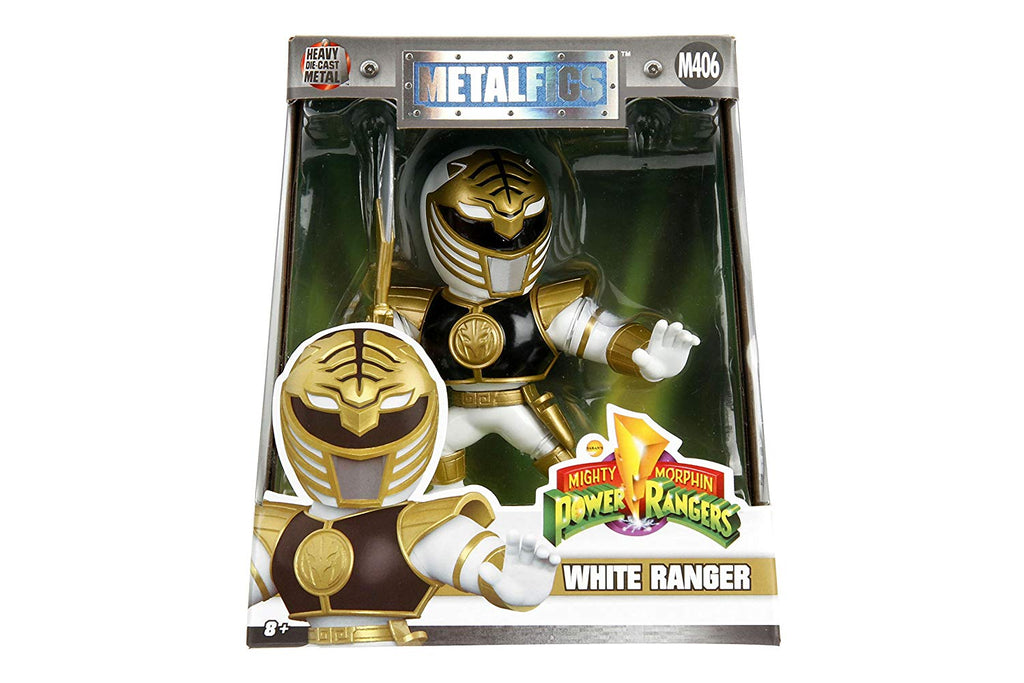 "Jada Toys Metals Power Rangers 4"" Classic Figure - White Ranger (M406) Toy Figure"