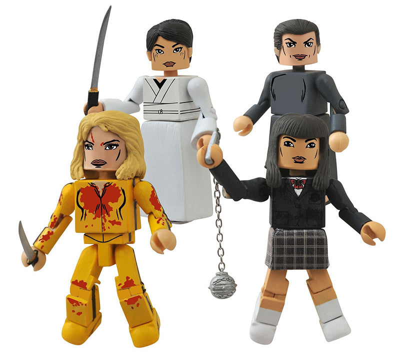 Kill Bill 10th Anniversary Minimates House of Leaves Box Set of 4 Figures