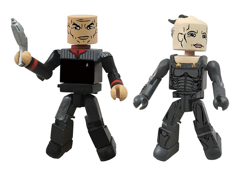 Star Trek Minimates Captain Picard 1st Contact and Borg Queen Figuress
