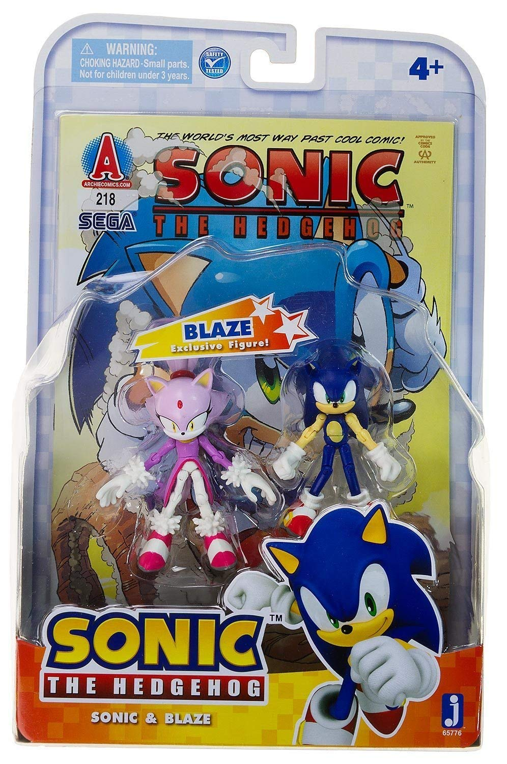 "Sonic 3"" Action Figure Comic Book Pack, Sonic and Blaze"