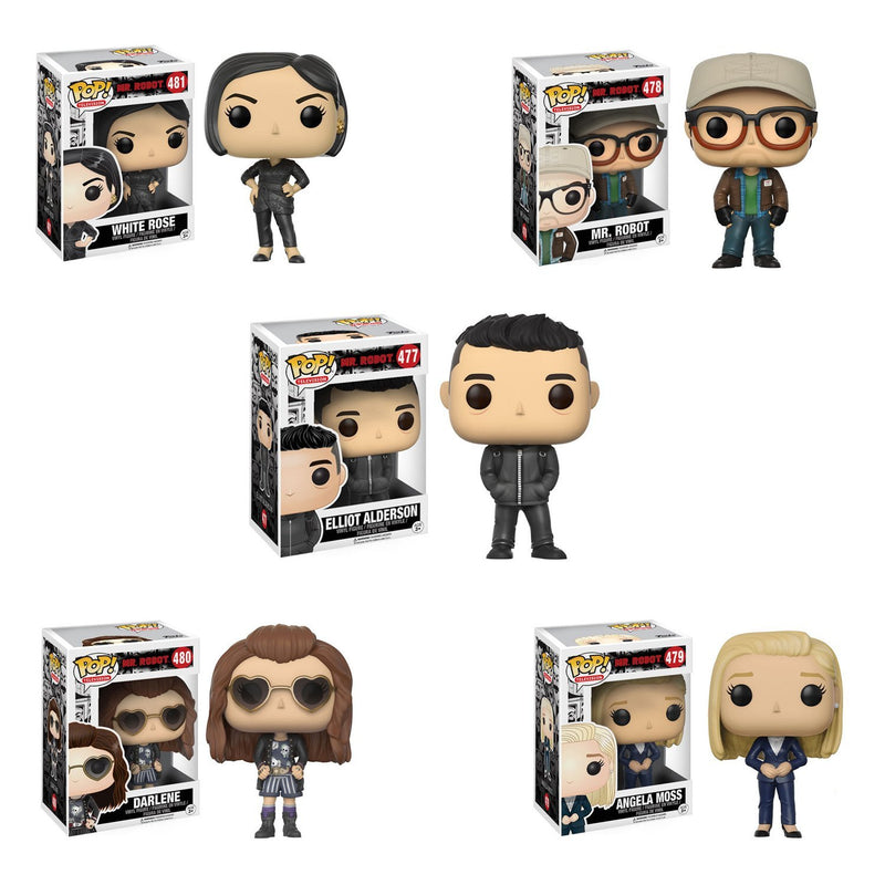 Preorder June 2017 Mr. Robot Pop! Vinyl Figures Set of 5