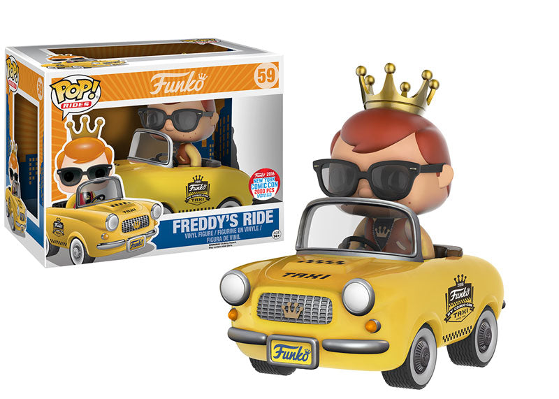 2016 NYCC Exclusive Freddy's Taxi Ride Pop! Vinyl Fiugre #59 LE 2000
