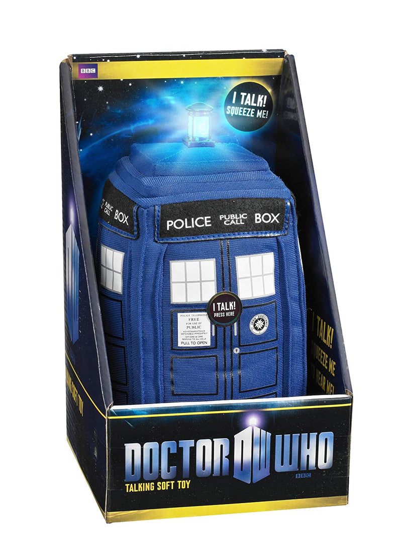 Doctor Who Medium Talking Plush - 8 Inch Tardis