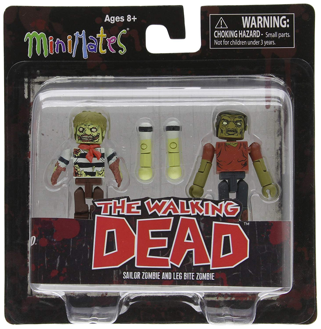 The Walking Dead Sailor Zombie and Leg Bite Zombie Minimate Action Figures