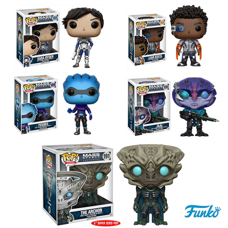 Preorder March 2017 Mass Effect: Andromeda Pop! Vinyl Figure Set of 5 - Toy Wars - Funko