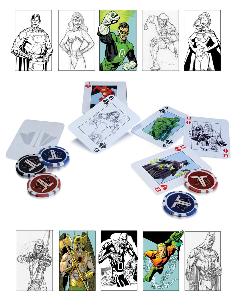 DC Collectibles DC Comics The Justice League: Starter Poker Set