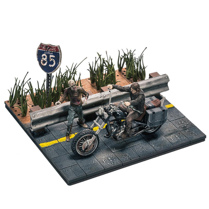 The Walking Dead TV Daryl Dixon with Chopper Building Set