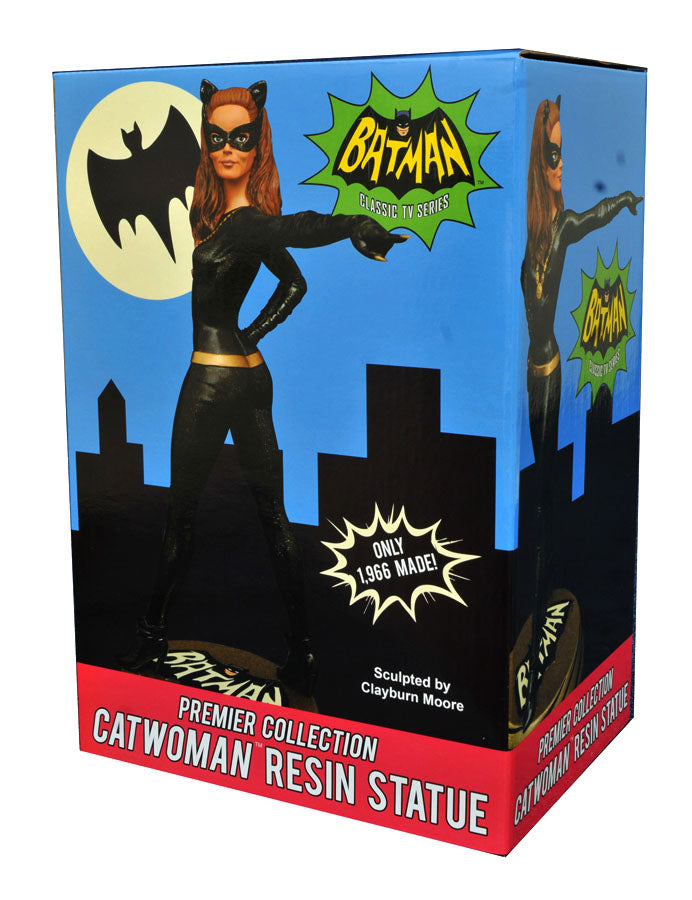 Roll over image to zoom in DIAMOND SELECT TOYS Batman Classic 1966 TV Series Premier Collection: Catwoman Resin Statue