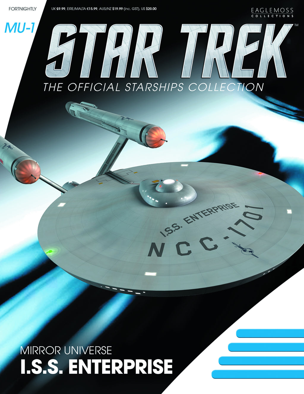 Star Trek Mirror Universe ISS Enterprise NCC-1701 with Magazine