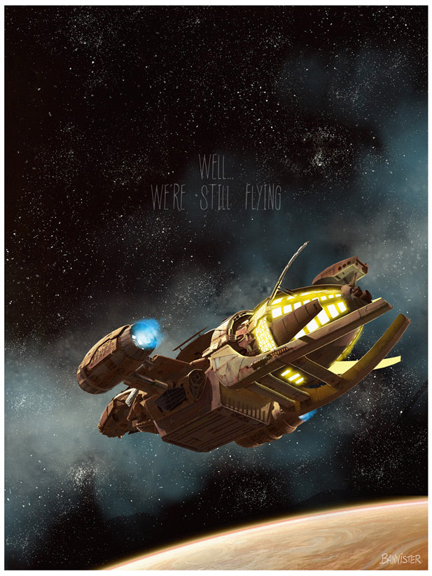 "Firefly ""Still Flying"" Lithograph by Bannister"