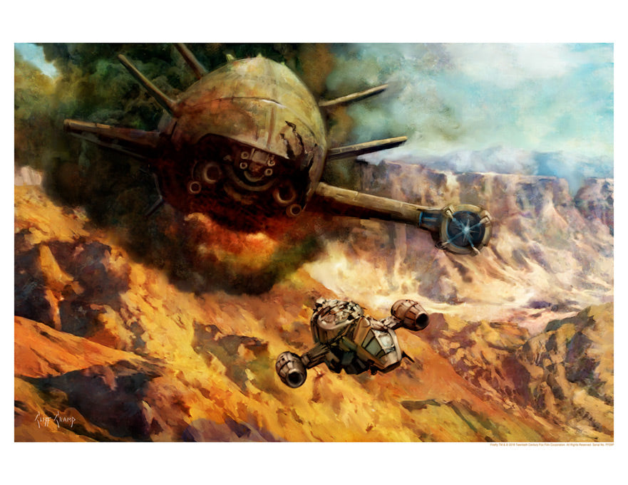 "Firefly ""About to Pull a Crazy Ivan"" Lithograph by Cliff Cramp"