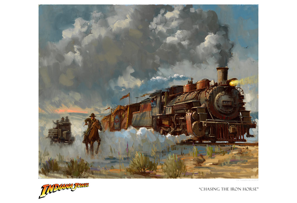 "Indiana Jones and the Last Crusade ""Chasing the Iron Horse"" Giclee on Paper by David Tutwiler"