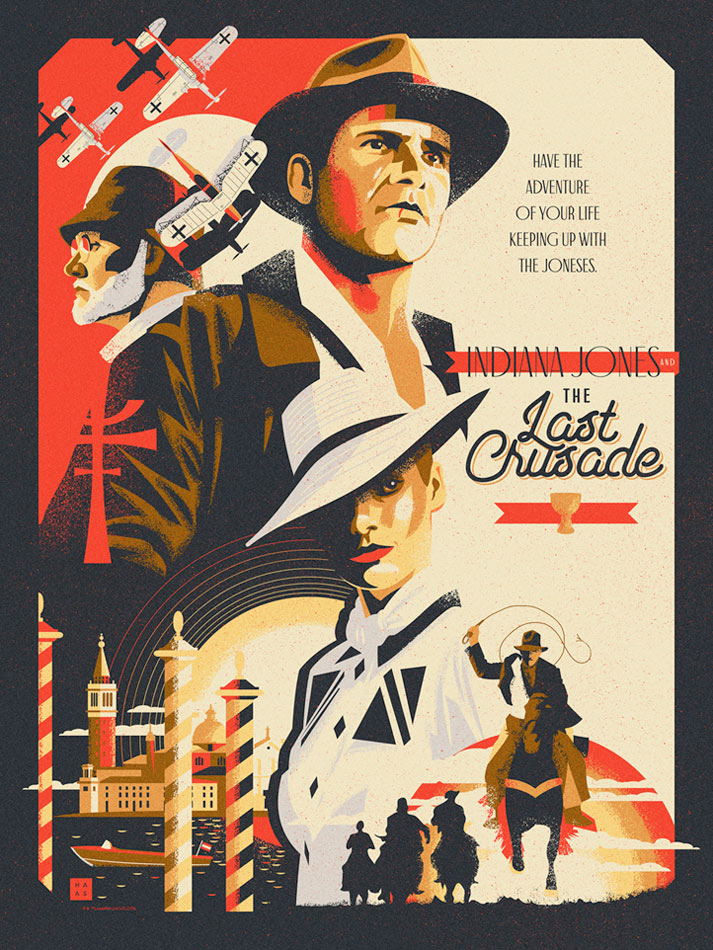 "Inidiana Jones and the Last Crusade ""Crusade"" Lithograph by Danny Haas"