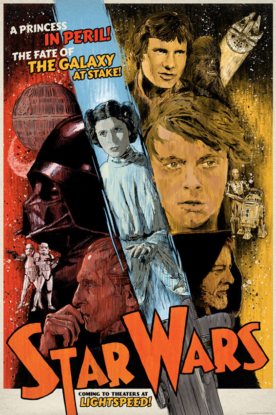 Star Wars The Galaxy at Stake Lithogragh by J.J. Lendl