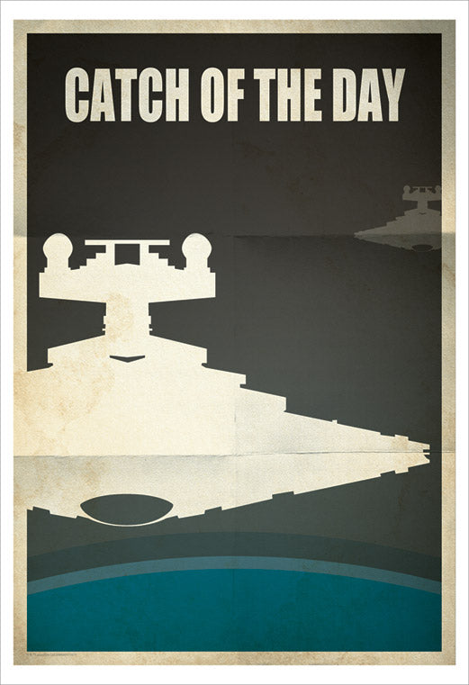 "Star Wars Star Destroyer ""Catch of the Day"" Giclee on Paper by Jason Christman"