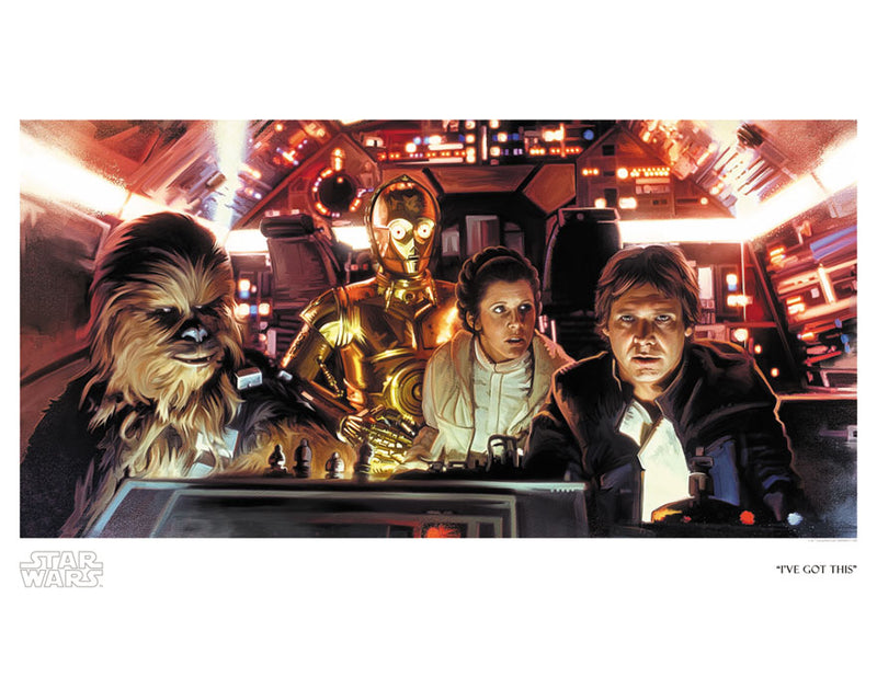 "Star Wars Empire Strikes Back ""I've Got This"" Giclee on Paper by Brian Rood"