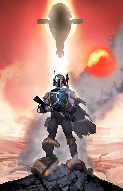 Star Wars Return of the Jedi Mandalorian Mettle Lithograph by Jeremy Saliba