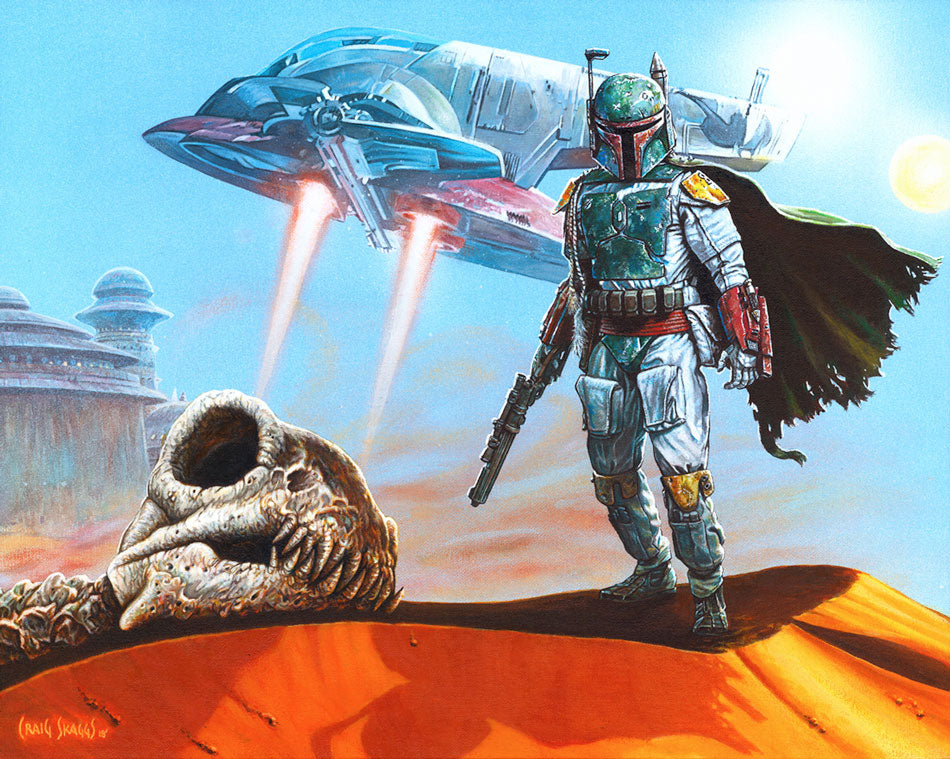 "Star Wars Boba Fett ""Fett Collects"" Giclee on Canvas by Craig Skaggs"